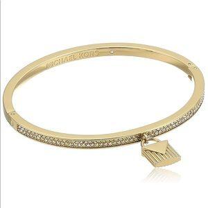 MK Gold-Tone Hinged Padlock Charm Bracelet